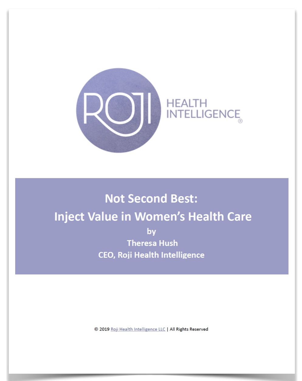 "Get the eBook ""Not Second Best: Inject Value in Women's Health Care"""